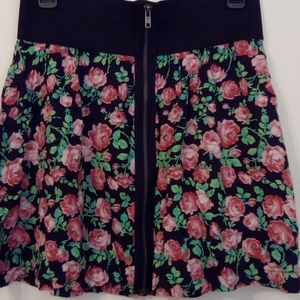 Pink Victoria's Secret Floral Fall Skirt Medium